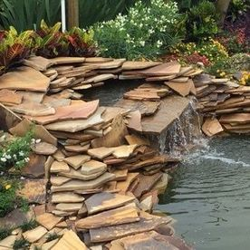 pond with water feature